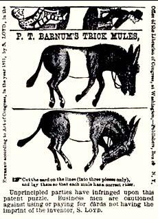 Barnum's Trick Mules Puzzle 1870