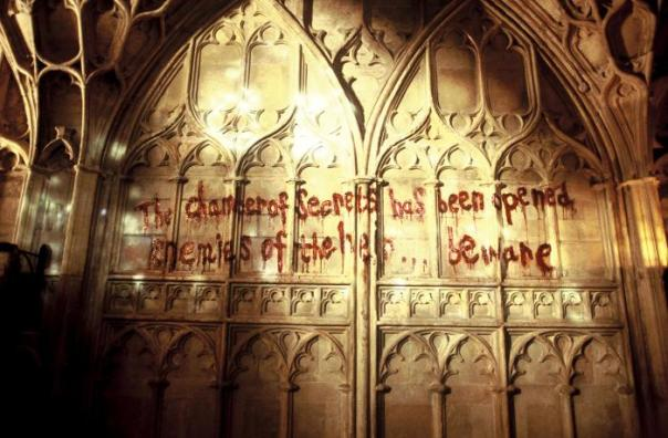 HARRY POTTER AND THE CHAMBER OF SECRETS, the mysterious writing on the wall, 2002, (c) Warner Brothers